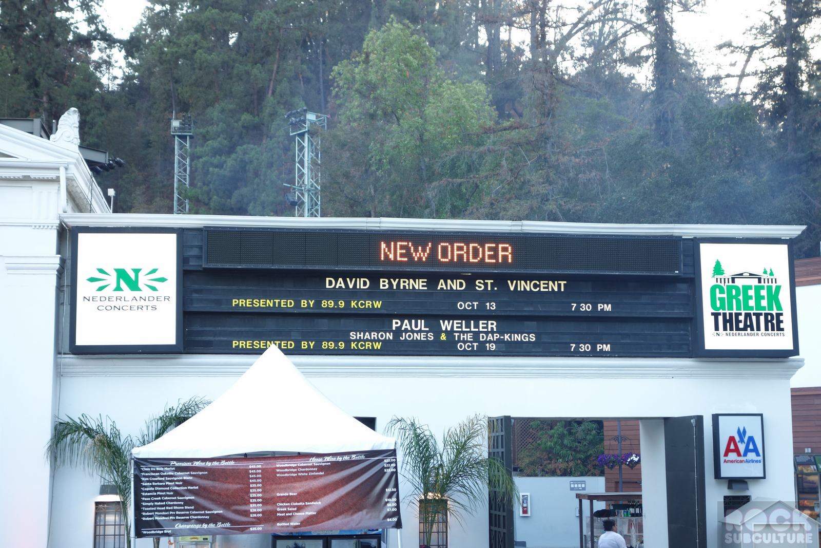 New Order Tour Greek Theater