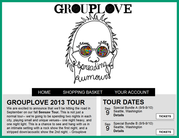 GROUPLOVE-Seesaw-Tour-2013-Spreading-Rumors-Concert-Pre-Sale-Tickets-Announcement-Artist-Arena-Portal
