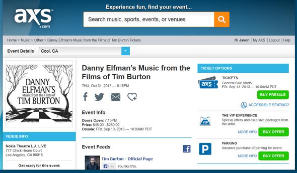 Danny-Elfmans-Music-from-the-Films-of-Tim-Burton-Concert-Event-Los-Angeles-Nokia-Theatre-LA-Live-Presale-Tickets-Portal-AEG