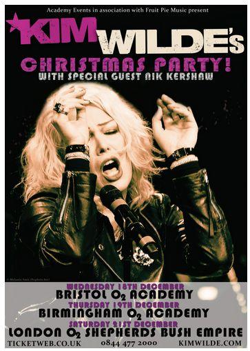 Kim-Wilde-Christmas-Party-Concert-December-2013-UK-London-O2 Academy Shepherds Bush Empire Dates-Tickets-Portal