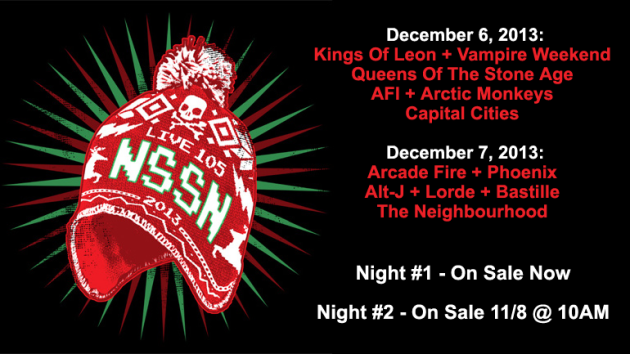 Live-105-Not-So-Silent-Night-2013-NSSN-Kings-of-Leon-Phoenix-Lorde-Vampire-Weekend-Arctic-Monkeys-Arcade-Fire-Portal