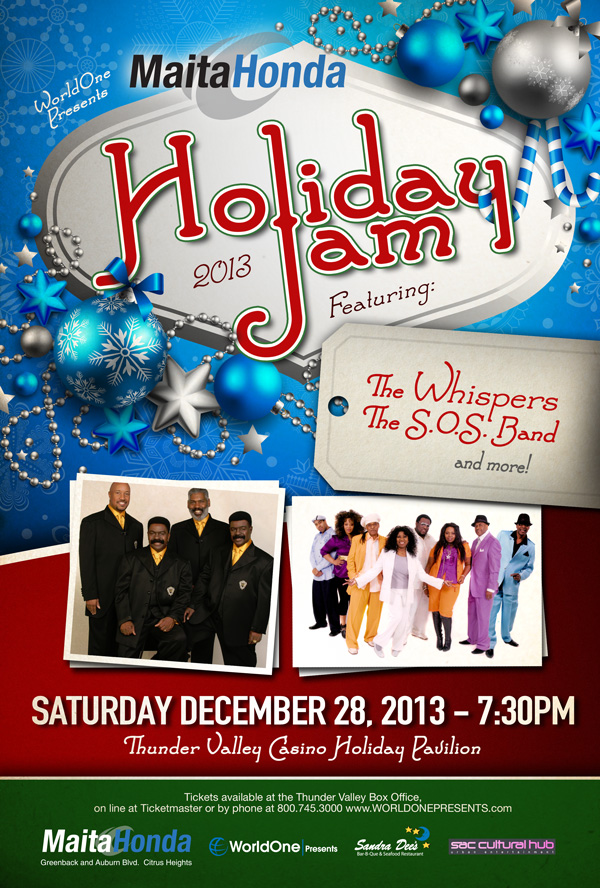 World One Presents Holiday Jam 2013 The Whispers The SOS Band Thunder Valley Casino Resort December 28 Concert