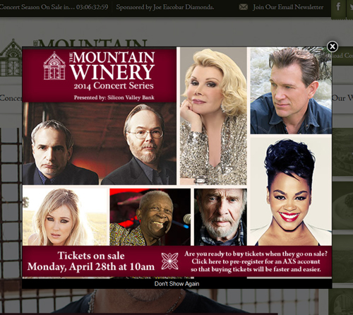 Mountain-Winery-Saratoga-2014-Summer-Concert-Series-Season-Dates-Details-AXS-Tickets-Pre-Sale-Code-Concert-Schedule-Aritst-Band-List-Details-Information-Portal