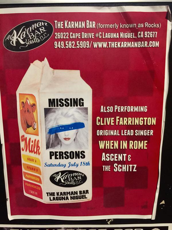 Dale Bozzio, Missing Persons & Clive Farrington, When in