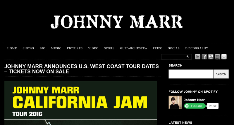 Johnny-Marr-California-Jam-Tour-2016-News-Dates-Information-Tickets-Preview
