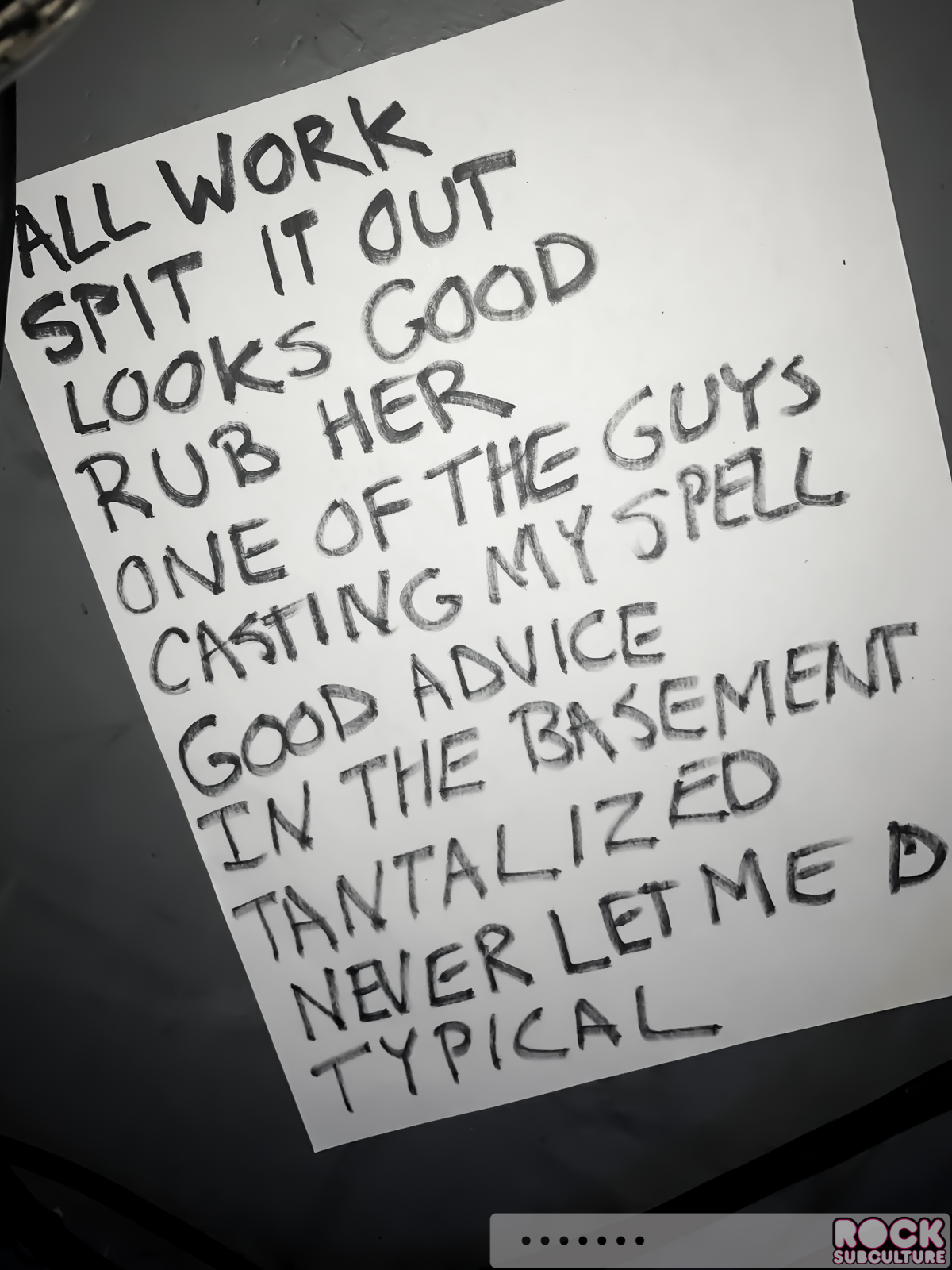The coloring book tour setlist - Book