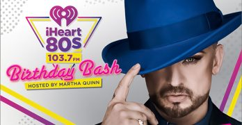Boy George to Headline iHeart80s Inaugural Birthday Bash Concert with Martha Quinn at SAP Center in San Jose on August 26th