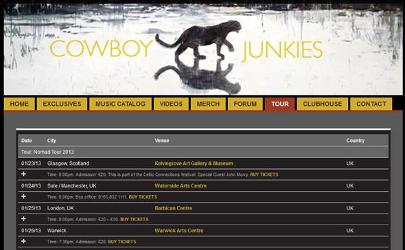 Cowboy-Junkies-Nomad-Tour-2013-US-Dates-Details-Tickets-Sale-Concert-Portal