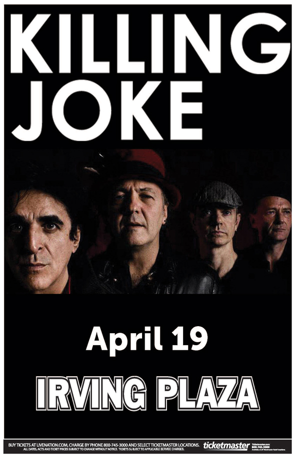 KIlling-Joke-Live-Nation-Ticket-Giveaway-Contest-Irving-Plaza-New-York-City-2013-Tour-Poster