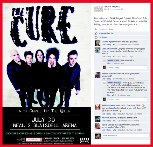 The-Cure-Concert-Tour-2013-Hawaii-Oahu-Honolulu-Neil-Blaisdell-Center-Arena-Bamp-Project-Live-Nation-Dates-Details-Tickets-Sale-Concert-Portal