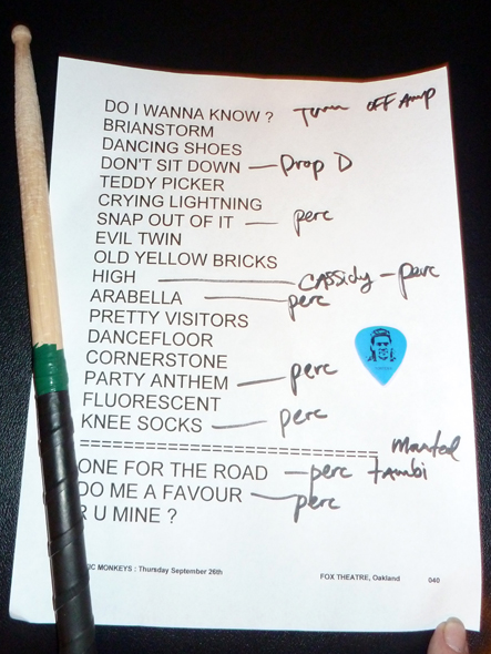 Arctic-Monkeys-Concert-Review-2013-Tour-Photos-Fox-Theater-Oakland-California-September-26-27-Setlist-RSJ