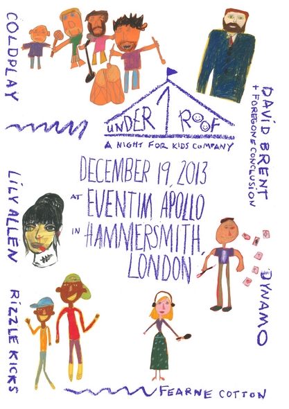 Coldplay 2013 Concert London Under 1 Roof A Night For Kids Company December 19 Eventim Apollo Hammersmith Charity David Brent Foregone Conclusion Lily Allen Dynamo Rizzle Kicks Fearne Cotton-RSJ