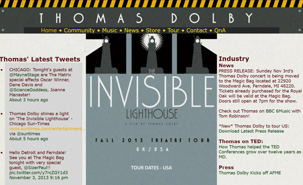 The-Invisible-Lighthouse-Film-and-Live-Performance-by-Thomas-DolbyTouring-United-States-November-2013-Tour-US-Dates-Details-Tickets-Pre-Sale-Concert-Portal