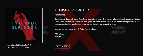 Interpol-NYC-Concert-Tour-2014-El-Pintor-Live-Dates-Cities-Schedule-Announcement-Details-Tickets-Portal