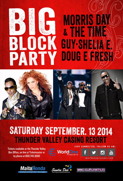 WorldOne-Presents-Big-Block-Party-Morris-Day-and-the-Time-Guy-Sheila-E-Doug-E-Fresh-Thunder-Valley-Tickets-Portal