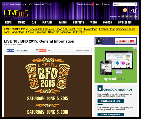 Live-105-21st-Annual-BFD-2015-Festival-Concert-Line-Up-Tickets-Information-CBS-Portal