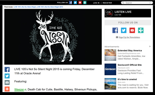 LIVE-105-Not-So-Silent-Night-2015-NSSN-Line-Up-Date-Tickets-Pre-Sale-Portal